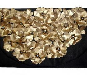 Upcycled Petal clutch purse